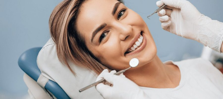 perfect smile in dental office