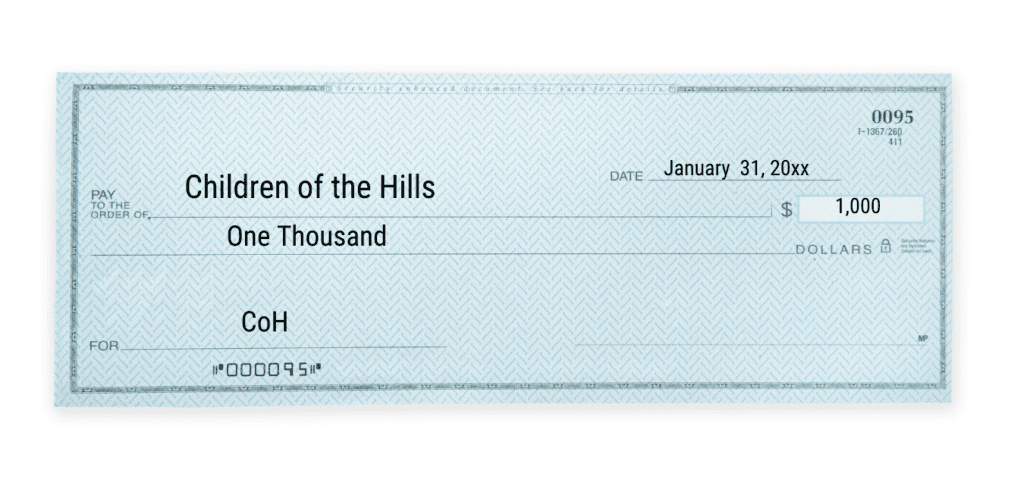CoH operational costs donation check