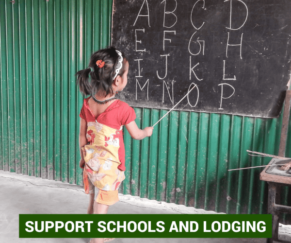 support schools and lodging